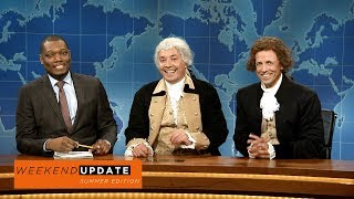 Presidents George Washington (Jimmy Fallon) and Thomas Jefferson (Seth Meyers) stop by to discuss being compared to famous Southern slave owners.Get more SNL: http://www.nbc.com/saturday-night-liveFull Episodes: http://www.nbc.com/saturday-night-liv...Like SNL: https://www.facebook.com/snlFollow SNL: https://twitter.com/nbcsnlSNL Tumblr: http://nbcsnl.tumblr.com/SNL Instagram: http://instagram.com/nbcsnl SNL Pinterest: http://www.pinterest.com/nbcsnl/