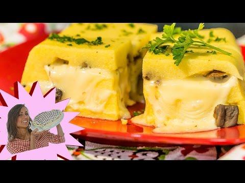 Polenta Pasticciata - Con Funghi e Formaggio