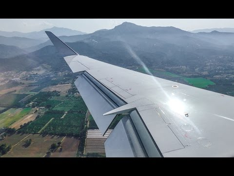 [4K] Eurowings CRJ-900 D-ACNM Beautiful Approach & Landing @ Bastia Airport