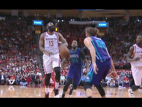 Harden Sneaky No-Look Bounce Pass to Harrell