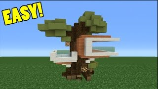Minecraft Tutorial: How To Make A Small Modern Tree House
