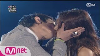 2015 MAMA T.O.P of BIGBANG Kissed Hyori Lee (2008 MKMF) 151201...