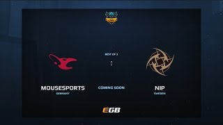 Mousesports vs NiP, Game 1, Dota Summit 7, EU Qualifier