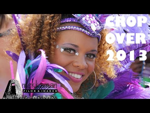 Barbados - Coverage of Grand Kadooment Day at Barbados Crop Over 2013 as revelers make their way from Warrens to Spring Garden. A few interviews near the start plus vid...