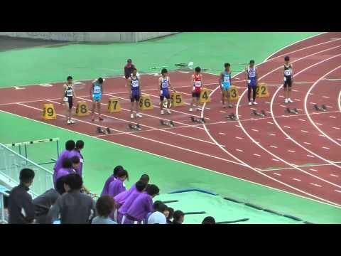 2014 常陸太田市中学校陸上競技大会 男子100m 決勝