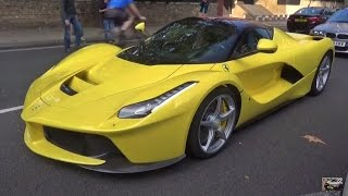 YELLOW Ferrari LaFerrari Exhaust SOUNDS in the city! by 458MRP