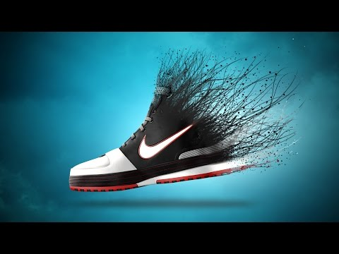Photoshop Tutorial | Creative Shoe Dispersion Effect | Photo Manipulation