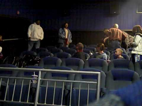 movie theater - a fight broke out during the movie