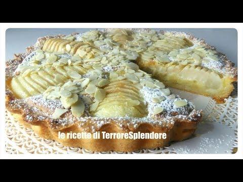 crostata con crema frangipane e pere - ricetta