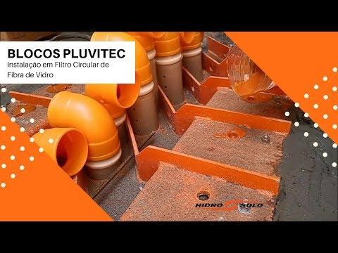 Hidro Solo - PLUVITEC Blocks - Fiberglass Circular Filter Installation