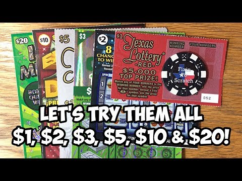 Let's Play $1, $2, $3, $5, $10 & $20! TEXAS LOTTERY SCRATCH OFF TICKETS