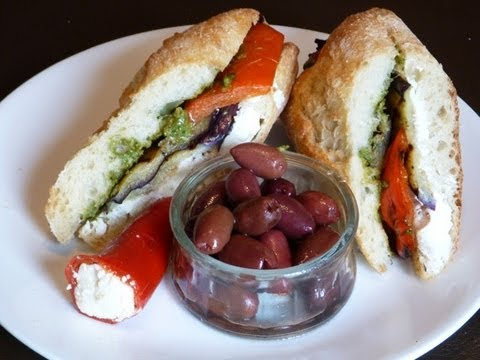 Mediterranean Recipe: How to Make a Tasty Mediterranean Grilled Vegetable Sandwich