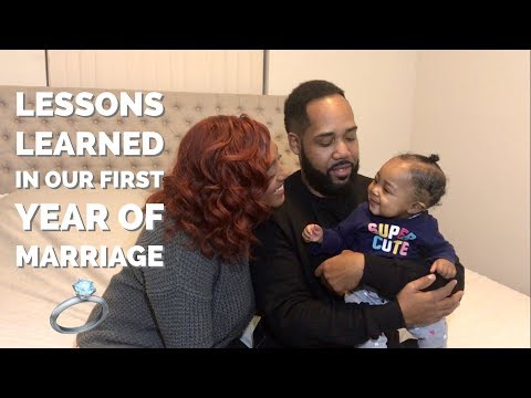LESSON LEARNED IN OUR FIRST YEAR OF MARRIAGE!