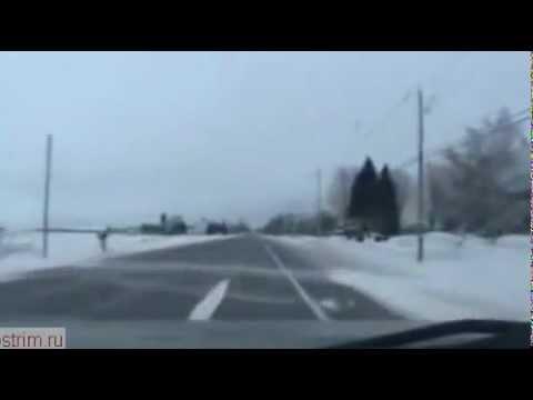 Водитель уснул за рулём на трассе