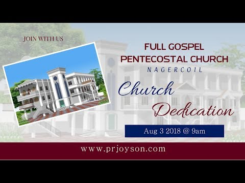 CHURCH DEDICATION | AUG 03 2018