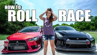 Teaching my wife to ROLL RACE in my R35 GT-R! by Evan Shanks