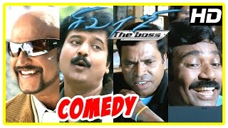 Sivaji Movie Comedy | Sivaji Movie full Comedy Scenes | Rajinikanth, Vivek, Shriya | Ar Rahman |
