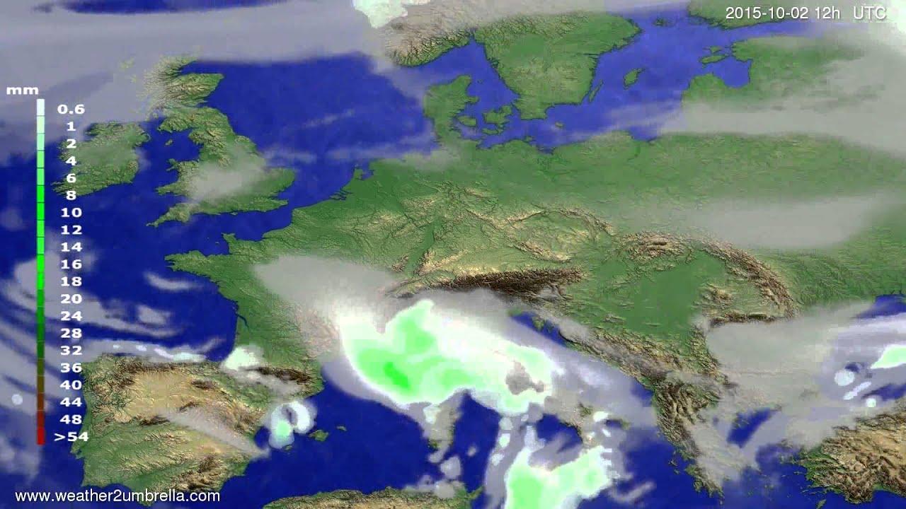 Precipitation forecast Europe 2015-09-30
