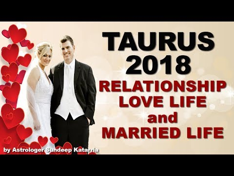 TAURUS 2018 Relationship, Love & Married Life Annual Horoscope Astrology