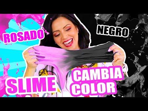 Videos caseros - El SLIME MÁS RARO DEL MUNDO! DE ROSADO A NEGRO! SLIME MÁGICO QUE CAMBIA DE COLOR - SandraCiresArt