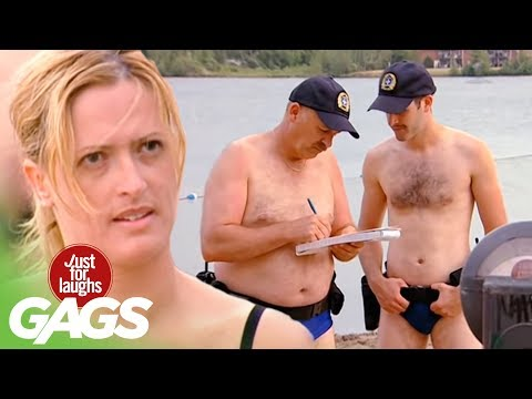 FL Hidden Camera Pranks & Gags: Beach Police