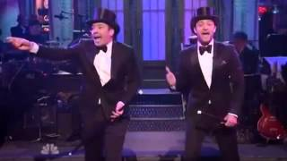 Download Lagu Jimmy Fallon and Justin Timberlake open musical segment for SNL's star studded 40th anniversary Mp3