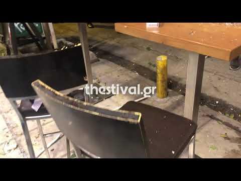 Video - Άγριο ξύλο στη Θεσσαλονίκη: Πακιστανοί έκαναν γυαλιά καρφιά μπάρ Κούρδων (vid)