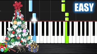 We Wish You A Merry Christmas - EASY Piano Tutorial  Ноты и МИДИ (MIDI) можем выслать Вам (Sheet mus