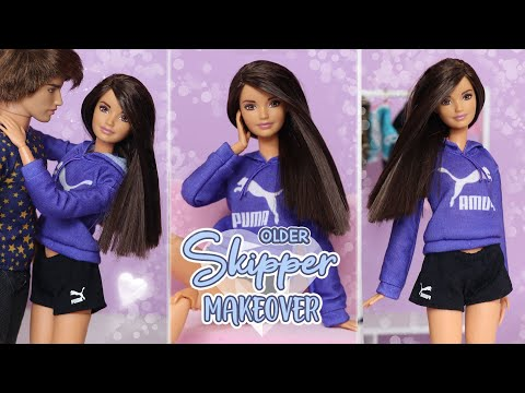 Older Skipper Barbie Doll Makeover
