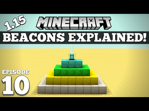 How To Use a Beacon in Minecraft! Tutorial! #10