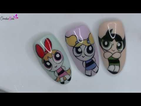 Diseños de uñas - Uñas Cartoon. Supernenas, Paso a Paso