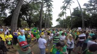 Fora Dilma 15 março praça da Liberdade em Belo Horizonte MG #GoPRO