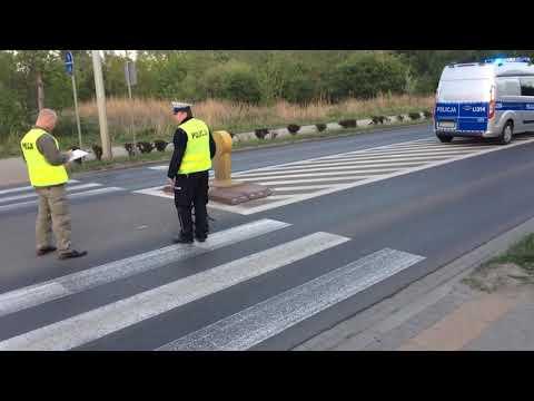 Wideo1: Potrącenie 6-letniej rowerzystki na ul. Unii Europejskiej w Lesznie