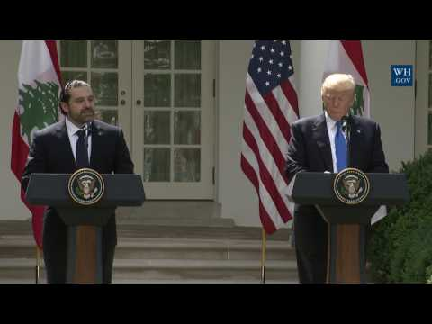 President Trump Holds a Joint Press Conference with Prime Minister Hariri