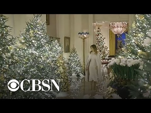 First lady Melania Trump reveals Christmas decorations at the White House