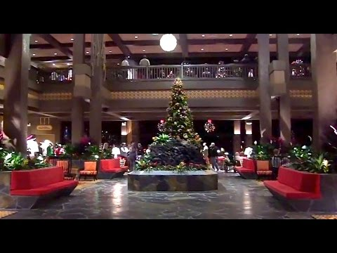 updated - Visit http://www.InsideTheMagic.net for more from the Polynesian Resort! Take a tour of the newly reopened and updated Polynesian Resort hotel lobby, including Christmas decorations, Lilo...