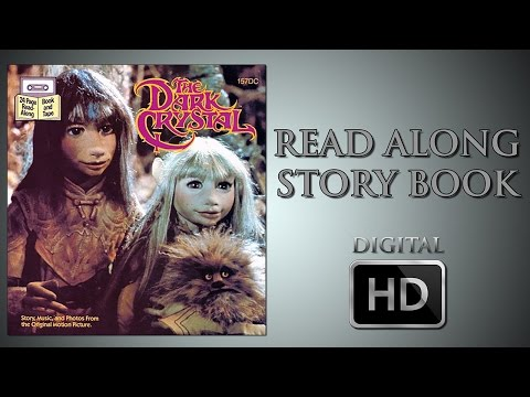 The Dark Crystal - Read Along Story Book - Jim Henson - Frank Oz - Gelfling - Aughra - Skeksis - Jen