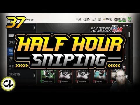 Easiest Sniping of the Year?! 50K+ in a Half Hour! Half Hour Only Sniping! Madden 18 Ultimate Team