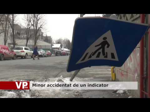 Minor accidentat de un indicator