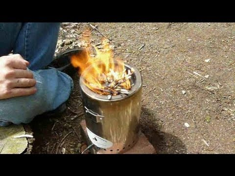 woodgas camp stove (TLUD) demo