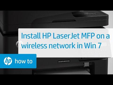 Installing an HP LaserJet MFP Printer on a Wireless Network in Windows 7