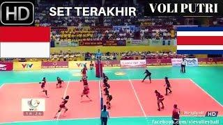 Video SET Terakhir MENANG TELAK VOLI PUTRI Indonesia vs Thailand 3 0  VTV Cup  2017  FULL HD MP3, 3GP, MP4, WEBM, AVI, FLV Oktober 2017