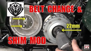 8. Grizzly 700 Drive Belt Change and Shim Mod Install for MORE Low End PoWeR
