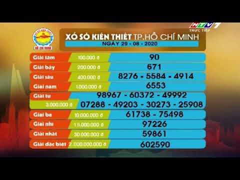 Xổ số kiến thiết TP.HCM    HTV1    29/08/2020