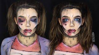 DAY 3: Harley Quinn pop art facepaint tutorial//Adore the Hall...
