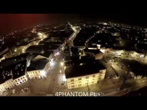 DRON nad LUBLINEM nocą , PHANTOM2 + gopro4