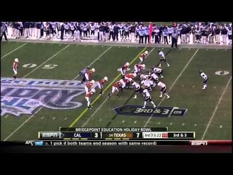 Keenan Allen vs USC Texas Washington 2011 video.