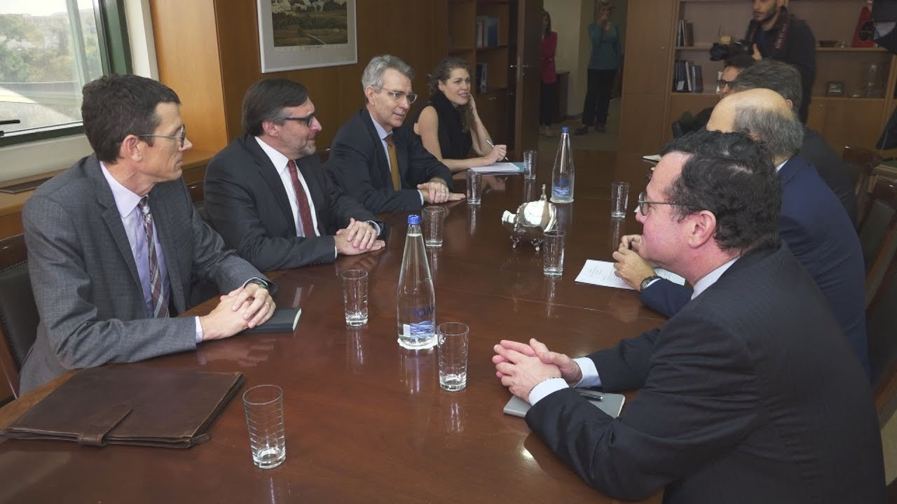 Συνάντηση Κωστή Χατζηδάκη με τον βοηθό υφυπουργό Εξωτερικών των ΗΠΑ Μάθιου Πάλμερ