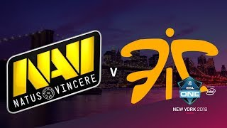 Na`Vi vs fnatic - ESL One NY 2018 - map1 - de_inferno [Enkanis, CrystalMay]