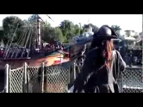 Captain Jack Sparrow Visits Disneyland